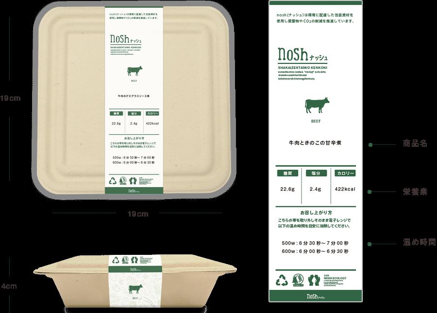 nosh(ナッシュ) メインプレートのパッケージ